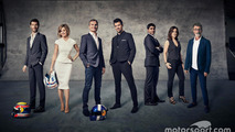 Mark Webber, Susie Wolff, David Coulthard, Steve Jones, Karun Chandhok, Lee McKenzie, Eddie Jordan