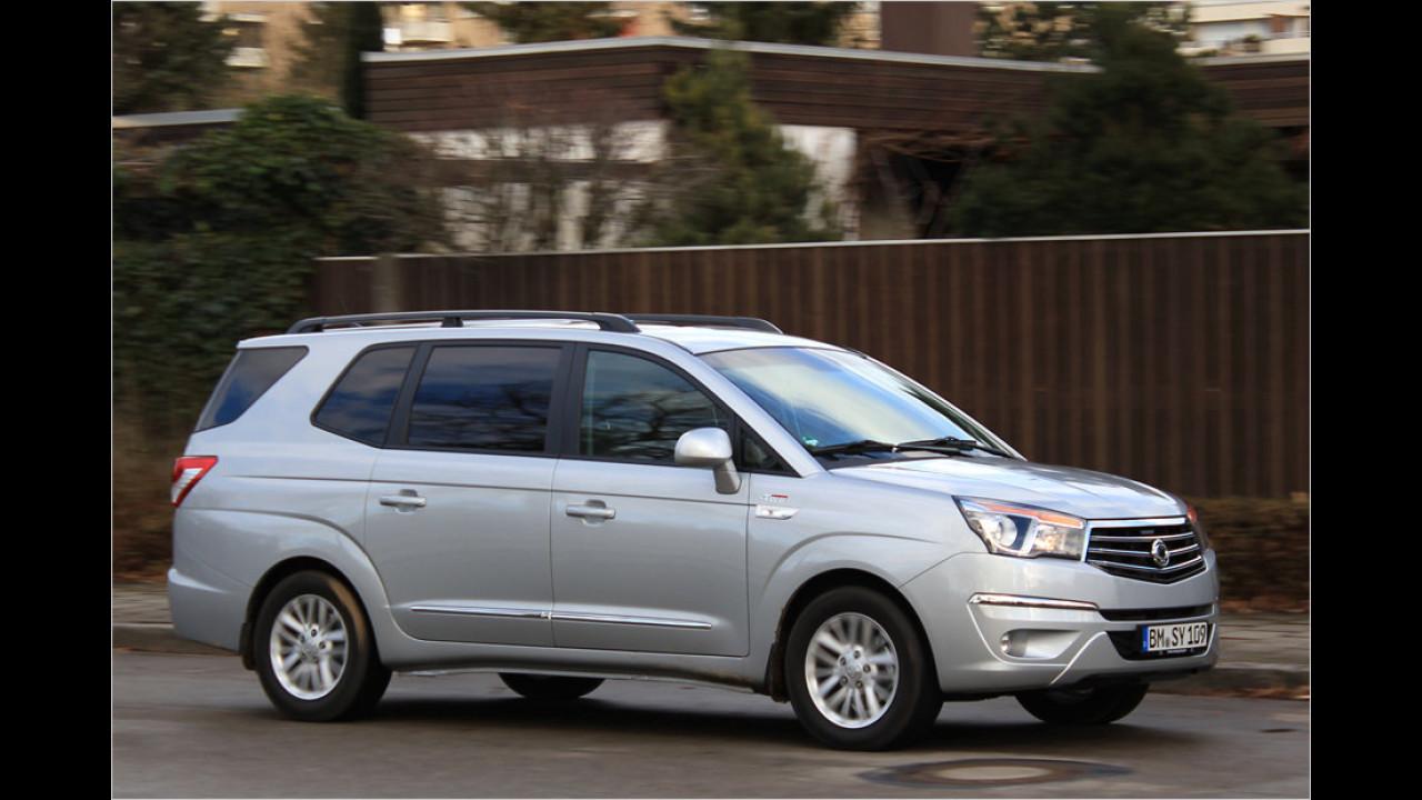 Der SsangYong Rodius gehört nicht zu den bestaussehenden Autos. Daneben mag seine geringe Bekanntheit entscheidend gewesen sein für die Zahl der Zulassungen: 58 Stück im Jahr 2013