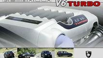 Porsche Cayenne with Gemballa V6 Turbo conversion kit