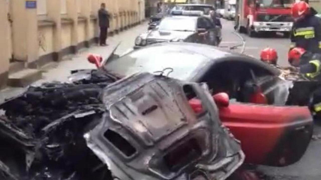 Burned Ferrari California