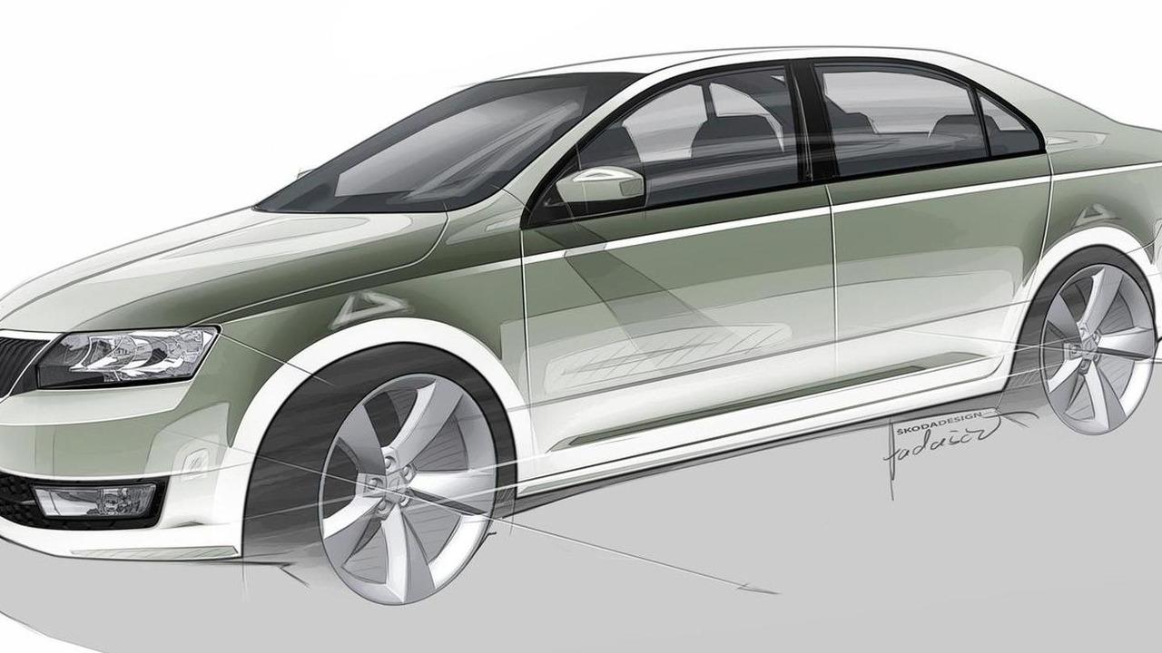Skoda Rapid production version sketch
