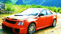 Cadillac CTS gets a strange body kit in China