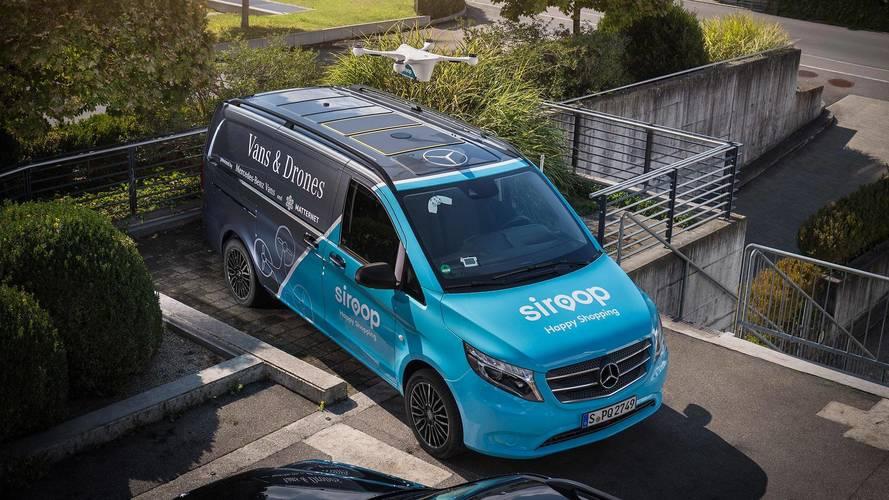Mercedes Trials Drone Delivery Service With Vito Van