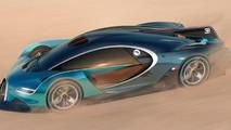 Bugatti hiper otomobil render