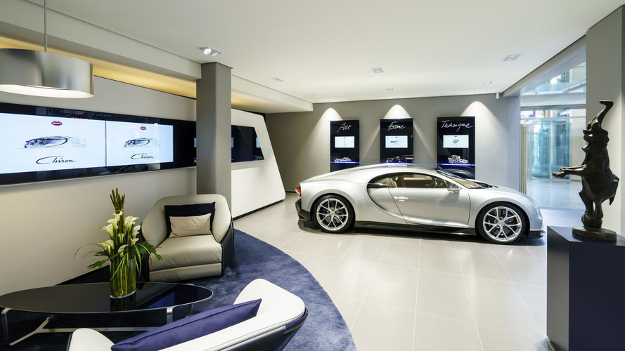Silver Chiron Featured At New Bugatti Showroom In Hamburg