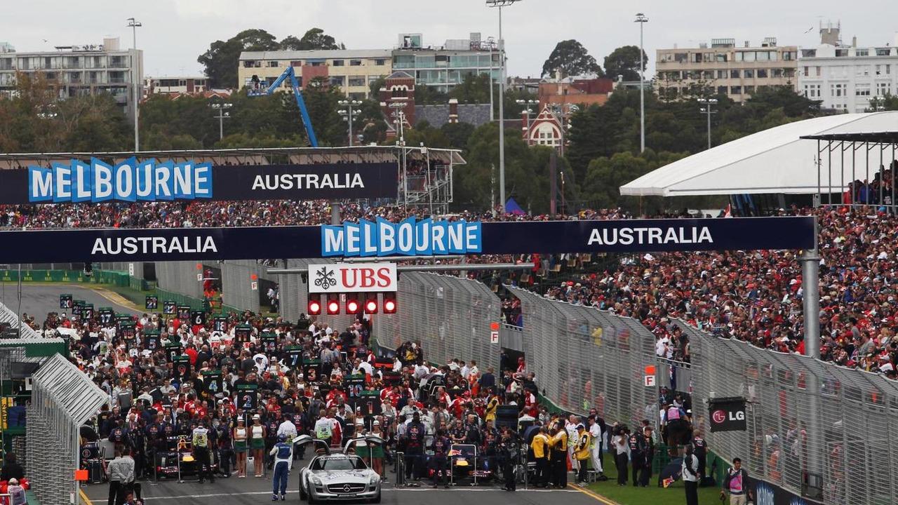 Grid before start of race 17.03.2013 Australian Grand Prix
