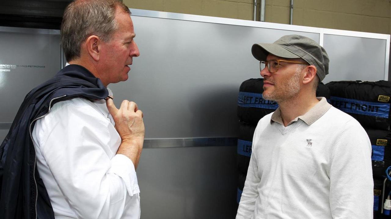 Martin Brundle with Jacques Villeneuve 22.11.2013 Brazilian Grand Prix