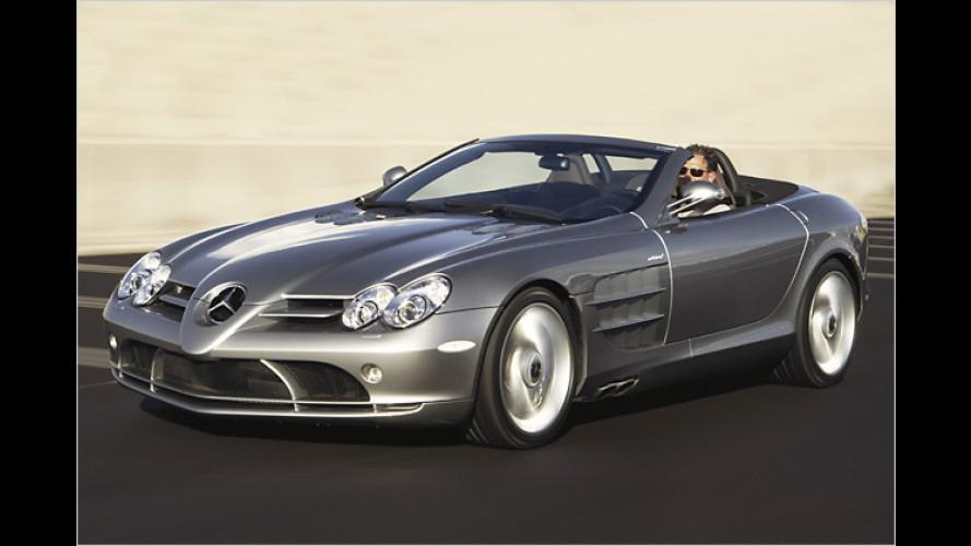 Mercedes SLR Roadster: Mit Stoffverdeck auf über 330 km/h