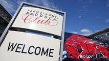 Paddock Club sign