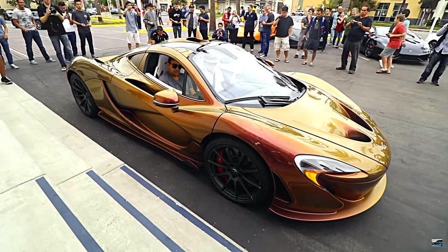 Color-shifting chameleon McLaren P1 is bad at hiding