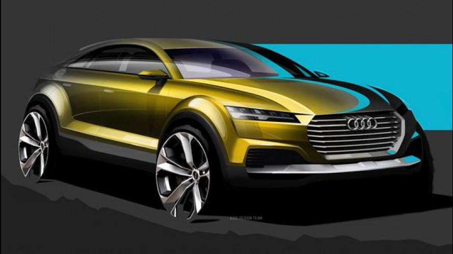 Audi Q4, i primi disegni della concept