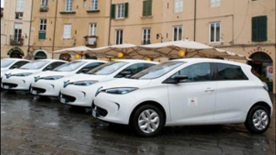 Car sharing, Renault ZOE arruolata a Lucca