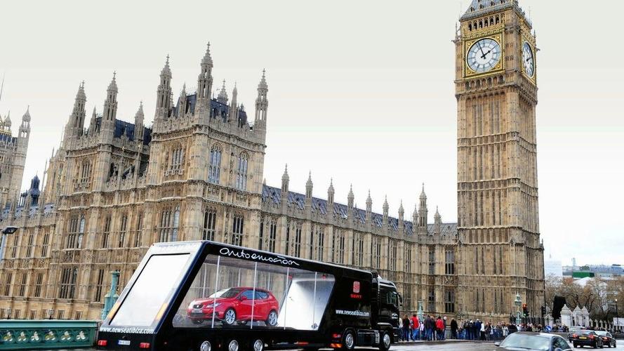 New SEAT Ibiza Gets Piggy-Back Ride Around UK