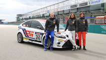 Jarr-Matti Latvala with team-mates Anja Wassertheurer and Daniela Schmid