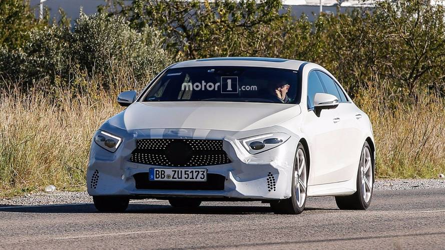2018 Mercedes CLS with minimal camouflage spy photos