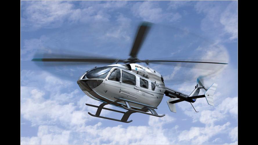 Silberpfeil der Lüfte: Hubschrauber im Mercedes-Design