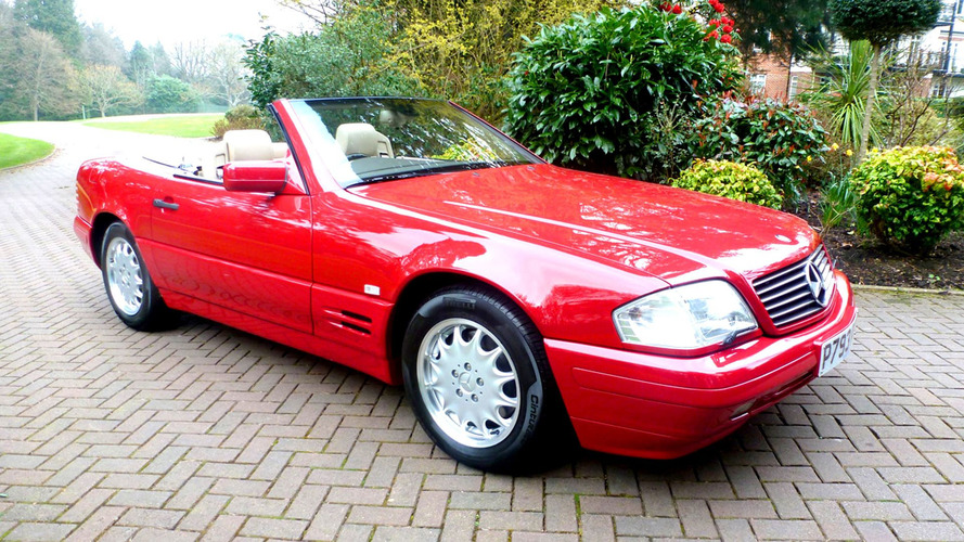 Time Warp: This 1996 Mercedes SL500 Shows Only 81 Miles Since New