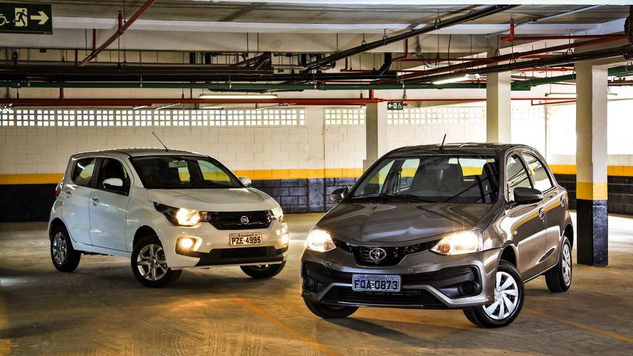 Comparativo automáticos mais baratos do Brasil - Mobi GSR x Etios X