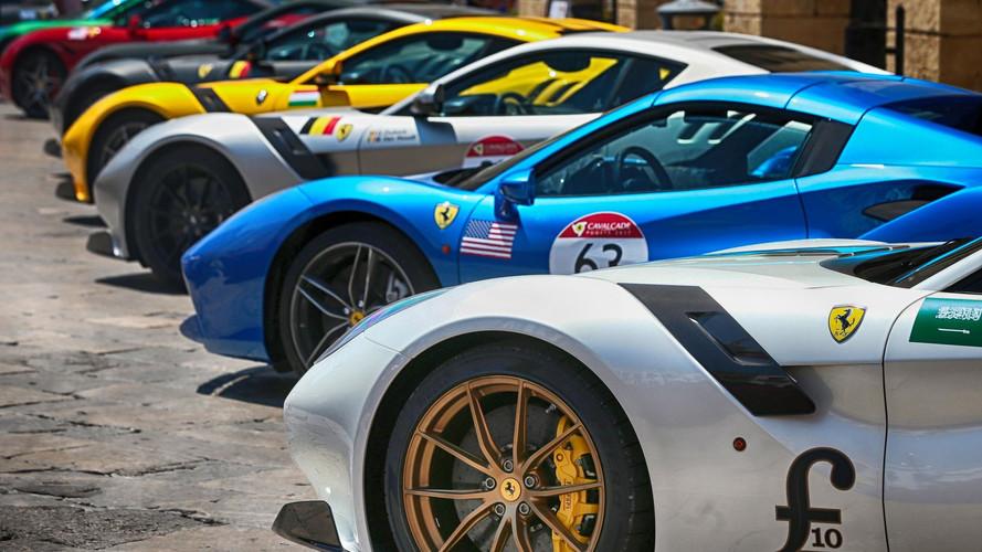 Ferrari Owners Celebrate The Brand At Cavalcade 2017