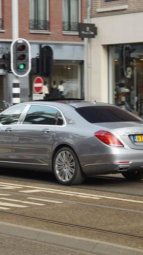 Mercedes-Maybach S-Class photographed in the metal