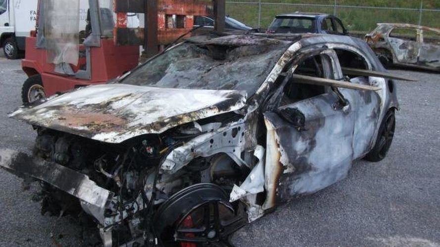 Crashed & burned Mercedes-Benz A45 AMG costs €9,500
