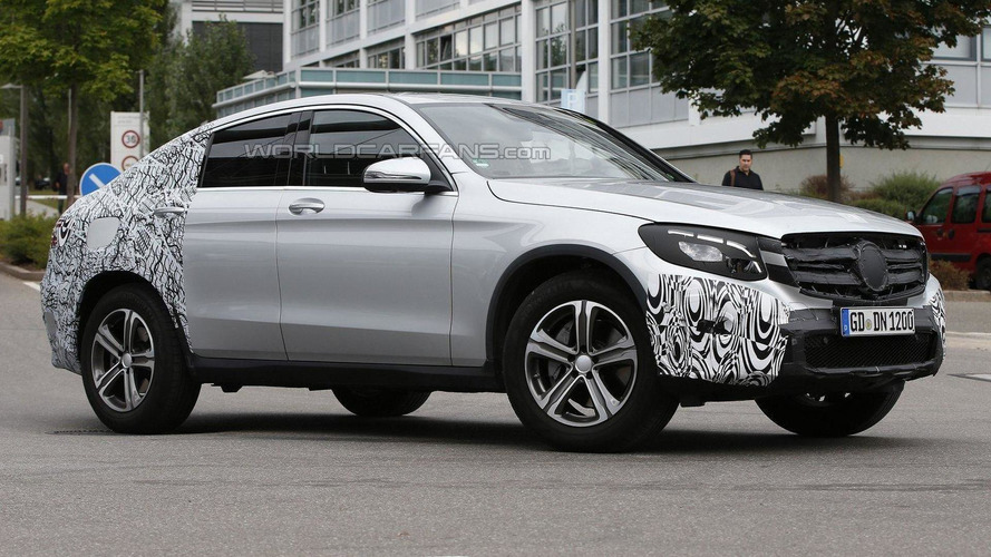 Mercedes GLC Coupe spied, will battle the BMW X4