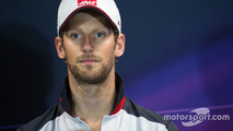 Romain Grosjean, Haas F1 Team in the FIA Press Conference