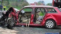Porsche Macan crash in Poland