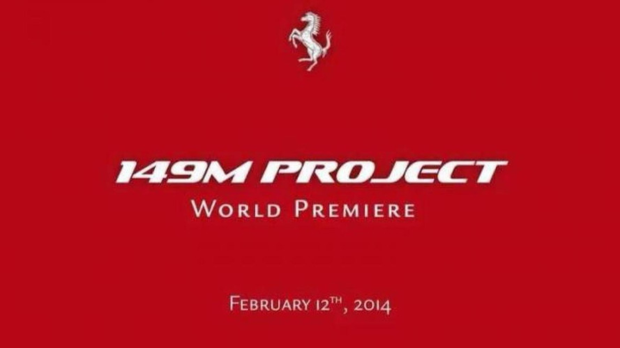 """Ferrari announces """"149M Project"""" for February 12 reveal, related to the California"""