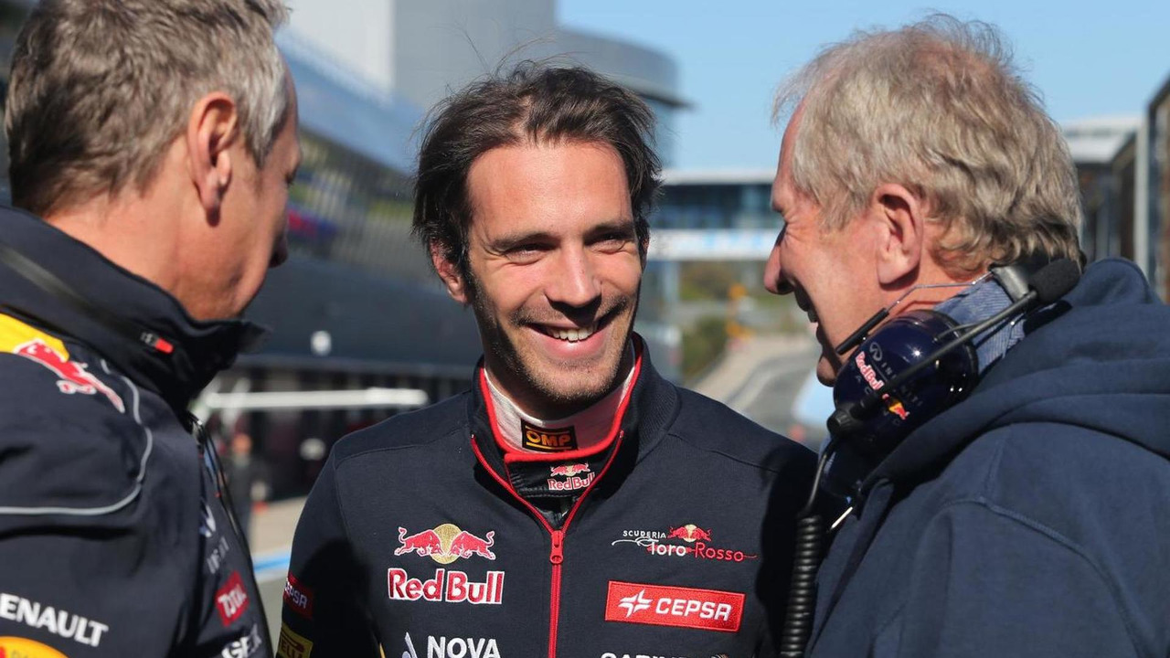 Jean-Eric Vergne and Dr Helmut Marko 30.01.2014 Formula One Testing Jerez Spain