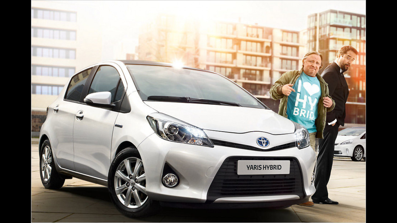 Axel Prahl und Jan-Josef Liefers: Toyota Yaris Hybrid