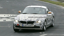 BMW Z4 spy photos on the Ring with roof uncovered