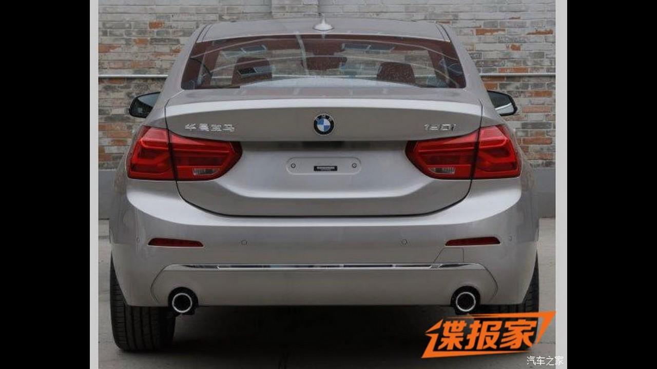 BMW Série 1 Sedan aparece em versão final na China, mas ficaria bem é no Brasil