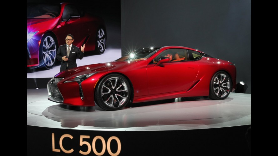 Salão de Detroit: impressionante, Lexus LC 500 nem parece versão de produção