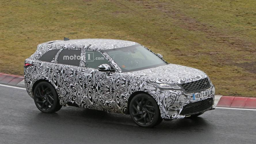 Range Rover Velar SVR Spied Kicking Up Rain At The 'Ring [UPDATE]