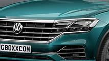 VW Touareg SUV coupé illustration