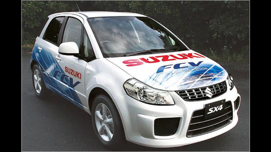 Mit Brennstoffzelle und Wasserstofftank: Suzuki SX4-FCV