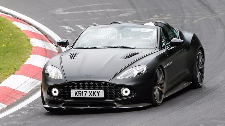 Aston Martin Vanquish Zagato Speedster spy photos