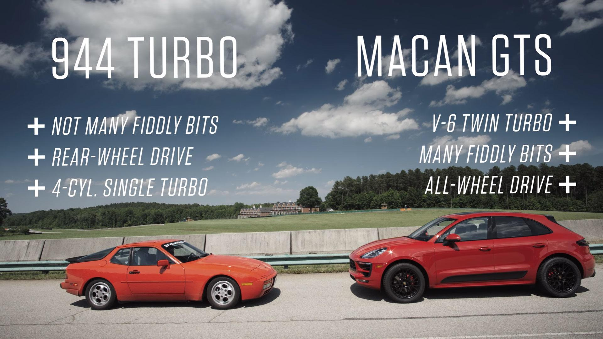 how does a porsche 944 turbo pare to a macan gts on the track
