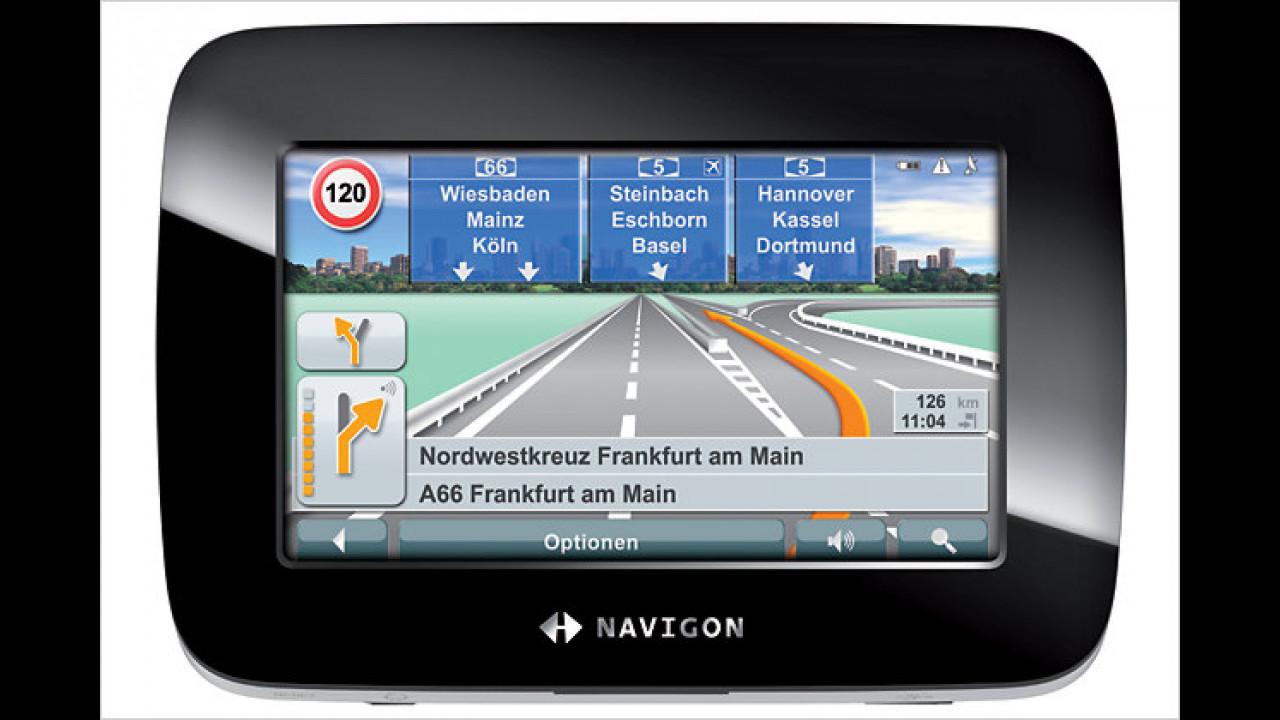 Navigon 7100: In Klavierlack-Optik