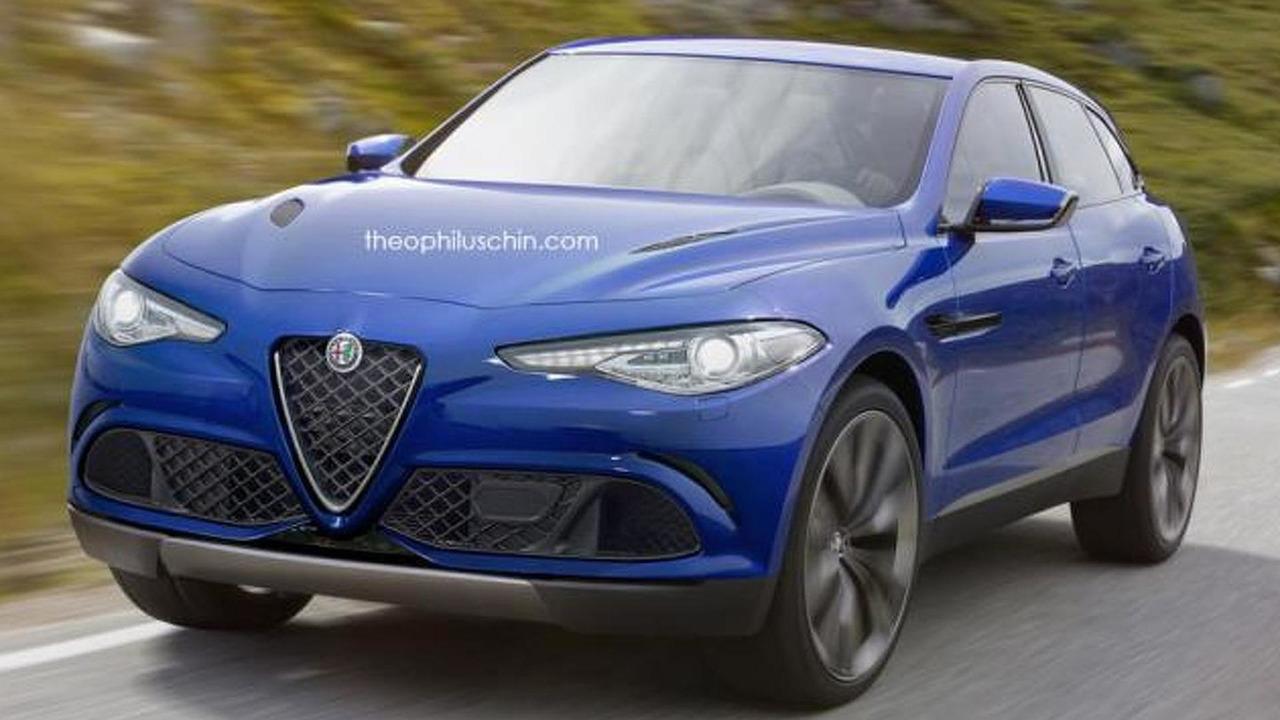 Alfa Romeo SUV rendering / Theophilus Chin