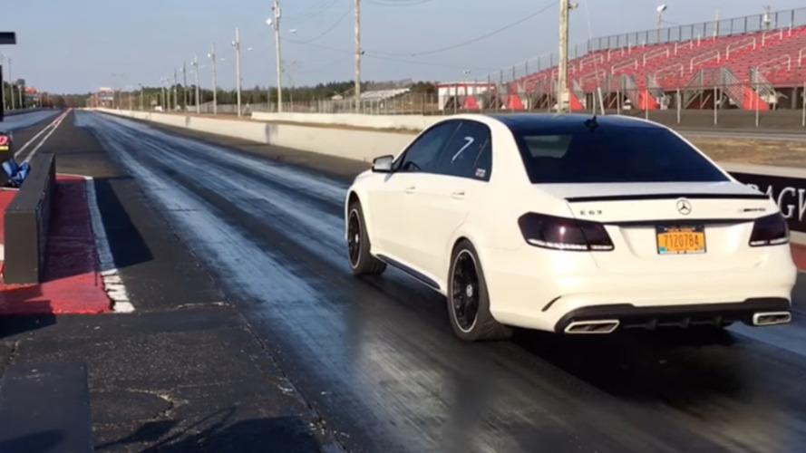 VIDÉO - Une Mercedes E63 AMG abat le 400 m départ arrêté en 10 secondes!