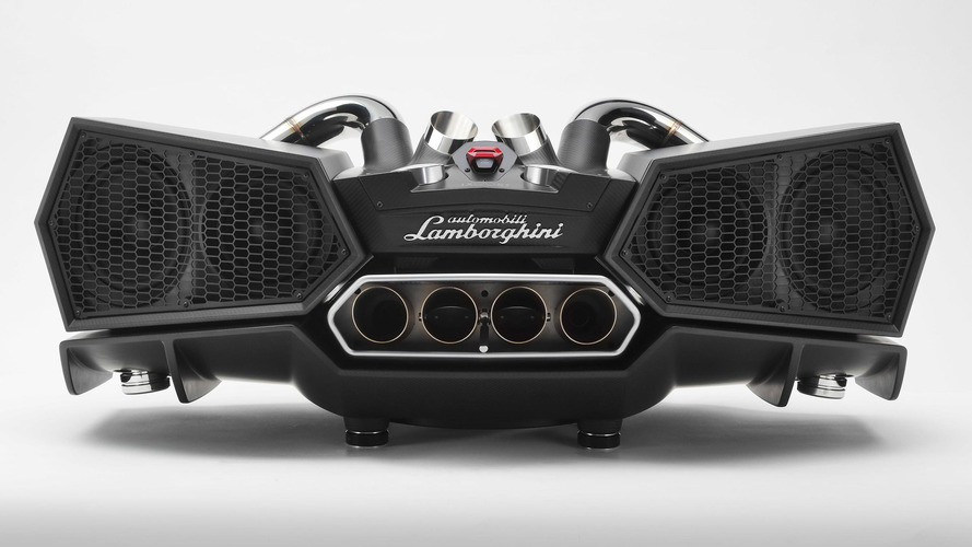 This $20K Lamborghini stereo speaker uses actual exhaust pipes