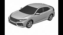 Vazou: Civic Hatch 2017 de produção aparece em imagens de patente