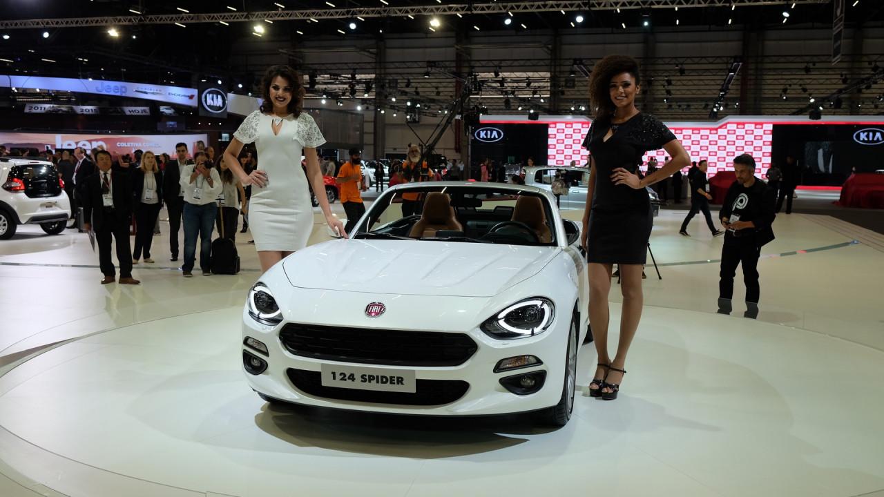 Salão do Automóvel: apenas para admirar, Fiat 124 Spider visita o Brasil