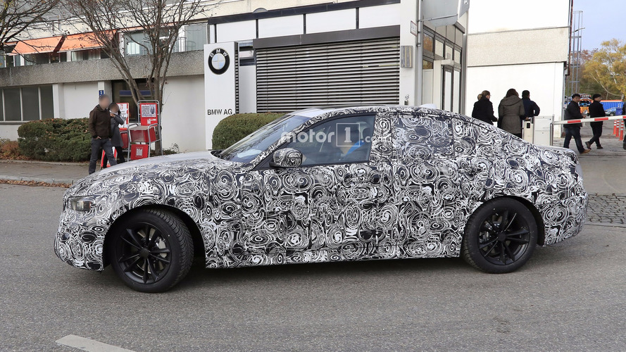 2018 BMW 3 Series poses for the camera with production body