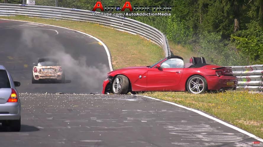 BMW Z4 M Roadster Nürburgring crash
