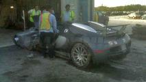Crashed Bugatti Veyron