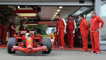 First roll out of Felipe Massa (BRA), Scuderia Ferrari in the old Ferrari F2007 / his first test after the big accident, crash at Hungary GP 2009, Fiorano, Italy, 12.10.2009