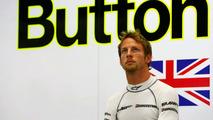Jenson Button in garage, Singapore grand prix, 27.09.09